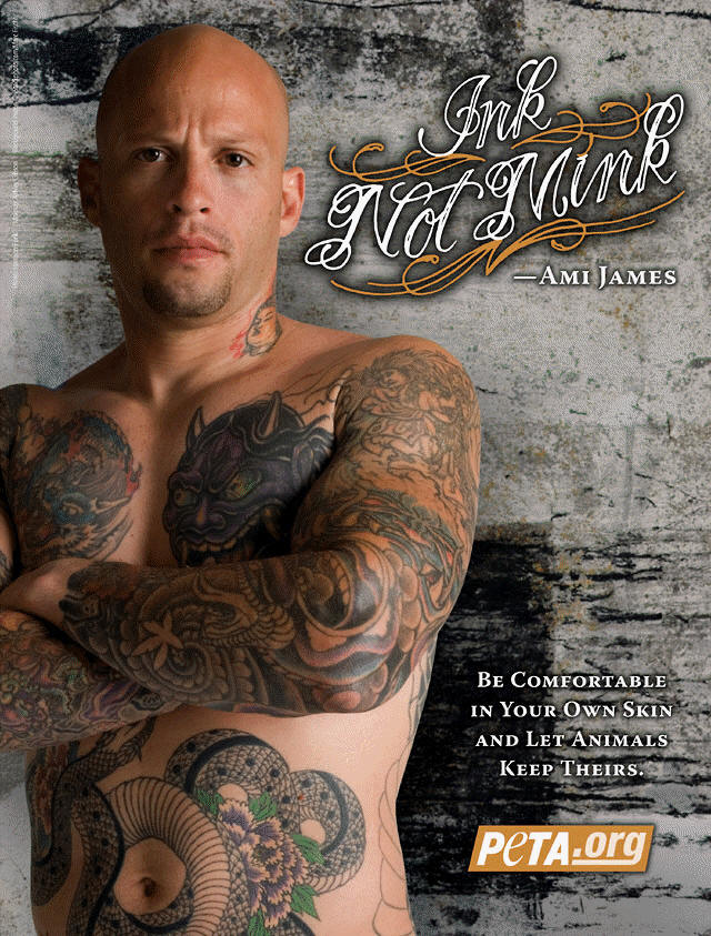 Ami James for PETA