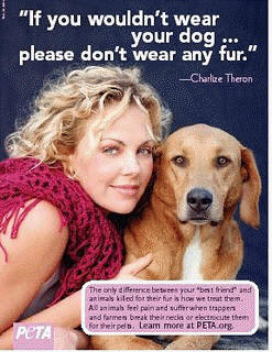 Charlize Theron for PETA