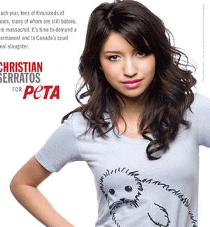 Christian Serratos for PETA's Save the Seals