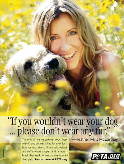 Heather Mills for PETA