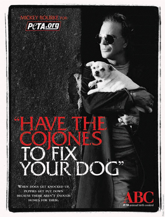 Mickey Rourke for PETA