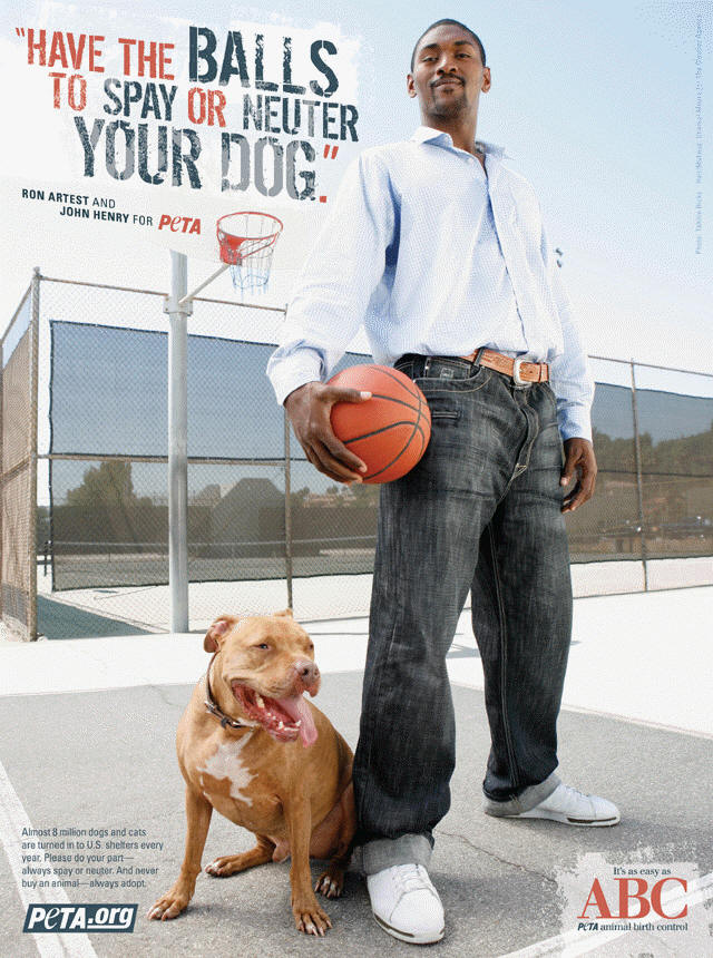 Ron Artest for PETA