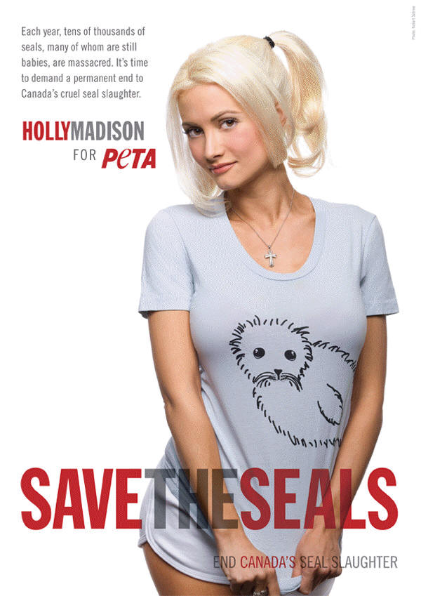 Holly Madison for PETA's Save the Seals
