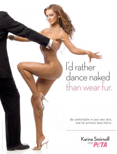 Karina Smirnoff for PETA