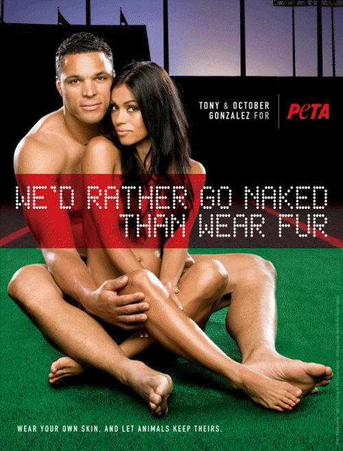 Tony & October Gonzalez for PETA
